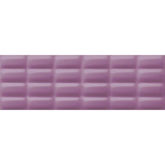 Płytka ścienna VIVID COLOURS violet pillow struktura błyszcząca 25x75 gat. I