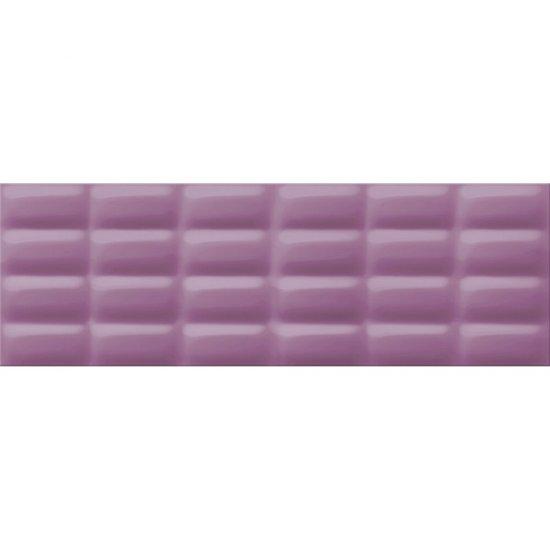 Płytka ścienna VIVID COLOURS violet pillow structure glossy 25x75 gat. I