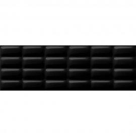 Płytka ścienna PRET A PORTER black pillow structure glossy 25x75 gat. I