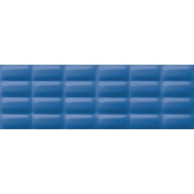Płytka ścienna VIVID COLOURS blue pillow struktura błyszcząca 25x75 gat. I