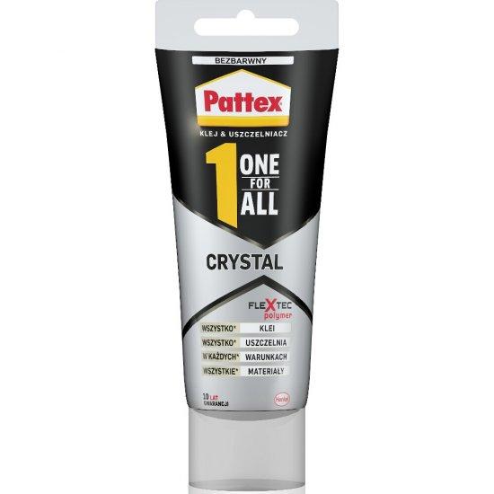 Klej uniwersalny PATTEX One For All Crystal w tubce 80 ml / 90 g