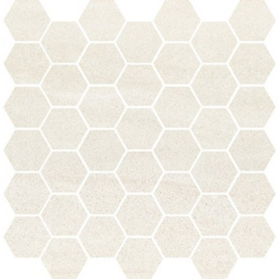 Płytka ścienna mozaika BANTU cream heksagon small glossy 29x29,7 gat. I