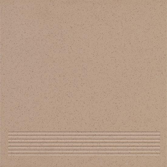 Gres techniczny stopnica KRONOS dark beige mat 30x30 gat. I