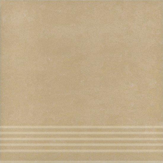 Gres zdobiony stopnica CALABRIA beige mat 29,55x29,55 gat. I