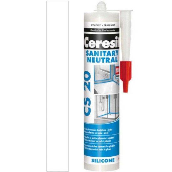 Silikon sanitarny CERESIT CER CS 20 SAN.N WH 280 ml CEE5 KF