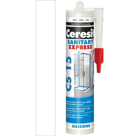 Silikon sanitarny CERESIT CS 15 Express White 280 ml