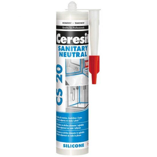 Silikon sanitarny CERESIT CS 20 neutralny transparentny 280 ml