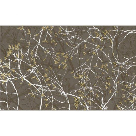 Płytka ścienna inserto LIRYKA brown gałązka glossy 25x40 gat. I