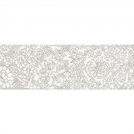 Płytka ścienna inserto PRET A PORTER white flower glossy 25x75 gat. I