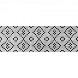 Płytka ścienna mozaika PRET A PORTER white-black glossy 25x75 gat. I