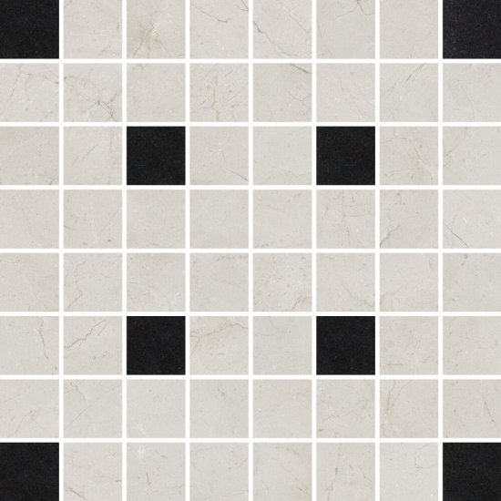 Płytka ścienna mozaika LIGHT MARBLE grey square mat 29x29 gat. I