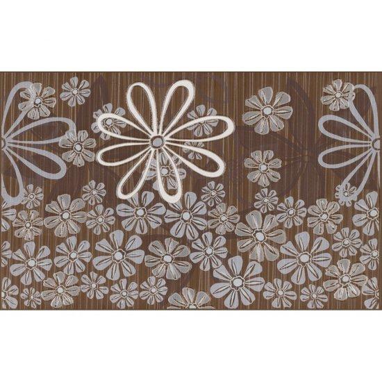 Płytka ścienna inserto EUFORIA brown kwiatek 3 mat 25x40 gat. I