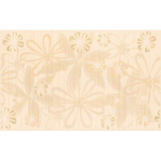 Płytka ścienna inserto EUFORIA beige kwiatek 1 mat 25x40 gat. I
