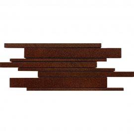 Gres zdobiony mozaika KANDO brown paski mat 14,7x41 gat. I