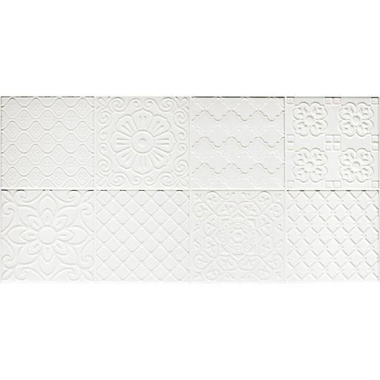 Płytka ścienna dekor APARICHY white shiny 30x60 gat. I