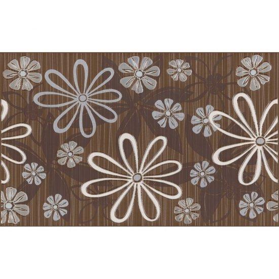 Płytka ścienna inserto EUFORIA brown kwiatek 1 mat 25x40 gat. I