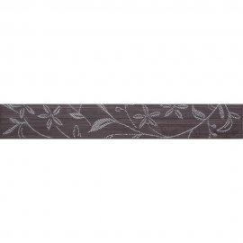 Płytka ścienna listwa TANAKA brąz flower mat 5x35 gat. I