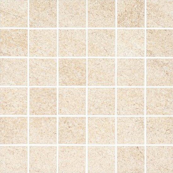 Gres szkliwiony KAROO kremowy mozaika mat 29,7x29,7 gat. I
