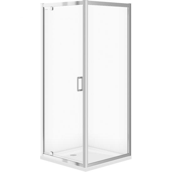 Kabina prysznicowa kwadratowa ARTECO 80x190 szkło transparentne z brodzikiem TAKO 80x4