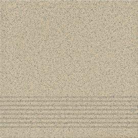 Gres techniczny stopnica KALLISTO light grey mat 29,7x29,7 gat. I