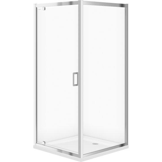 Kabina prysznicowa kwadratowa ARTECO 90x190 szkło transparentne z brodzikiem TAKO 90x4