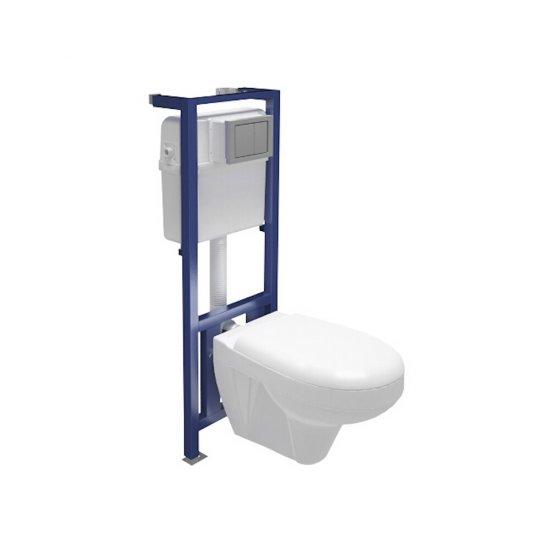 Stelaż do WC LINK z miską i deską duroplastową DELFI