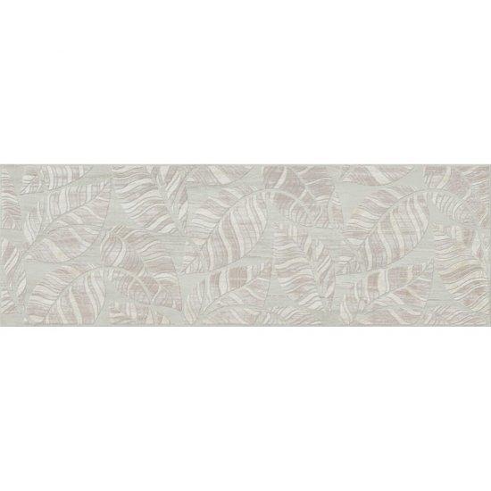 Płytka ścienna inserto LIVI beige leaves glossy 19,8x59,8 gat. I