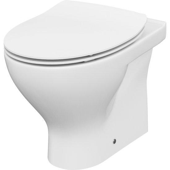 Miska WC stojąca MODUO 010 deska MODUO/DELFI duroplastowa