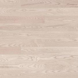 Deska warstwowa Barlinek jesion 1-lam lakier strukturalny biały 14x130x1092 Select