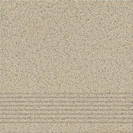 Gres techniczny stopnica KALLISTO light grey mat 29,7x29,7 gat. II