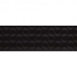 Płytka ścienna SPIN black geo błyszcząca 25x75 gat. II