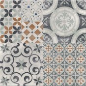 Gres szkliwiony PATCHWORK multikolor TWO satin 42x42 gat. I