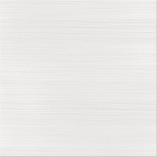 Gres szkliwiony DELICATE LINES white satyna 42x42 gat. II