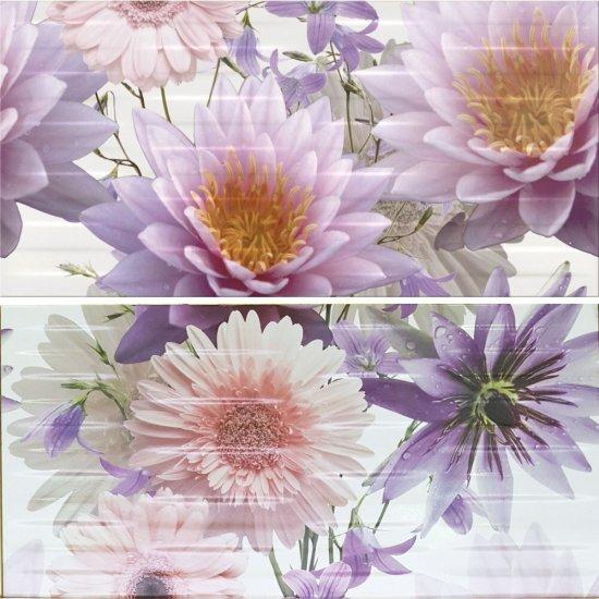 Płytka ścienna inserto CHINESE ASTERS multicolour flower 59,4x60 gat. I