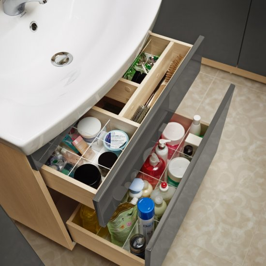 Zestaw organizerów do szafek SMART pod umywalkę COMO 80