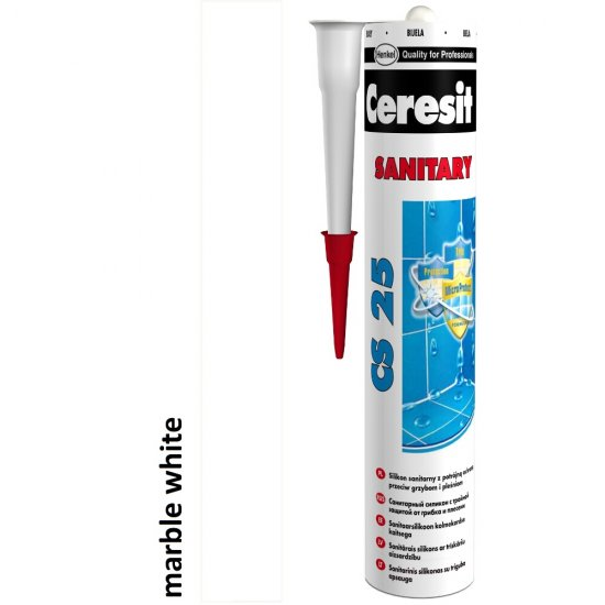 Silikon sanitarny CERESIT CS 25 marble white 280 ml