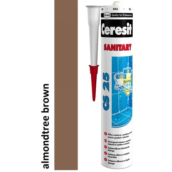 Silikon sanitarny CERESIT CS 25 almondtree brown 280 ml