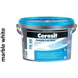 Fuga elastyczna CERESIT CE 40 marble white 5 kg