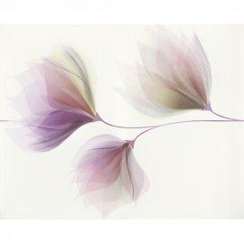 Płytka ścienna inserto LORIS white flower glossy 40x50 gat. I