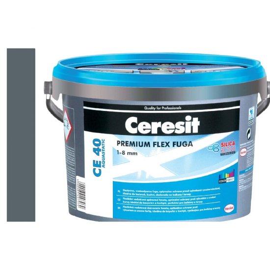 Fuga elastyczna CERESIT CE 40 iron grey 5 kg