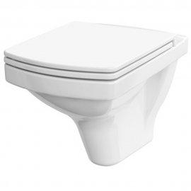 Miska WC podwieszana EASY prostokątna biała bezkołnierzowa