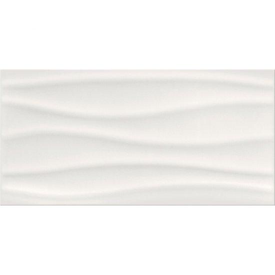 Płytka ścienna BASIC PALETTE white wave structure glossy 29,7x60 gat. II