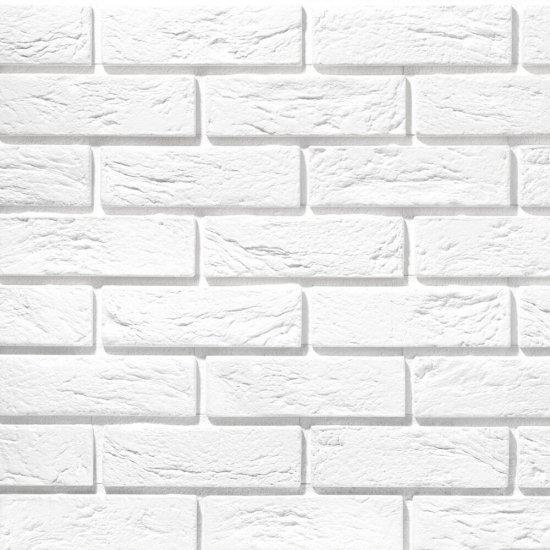Płytka cegłopodobna wewnętrzna PARMA 1 biała z fugą STEGU