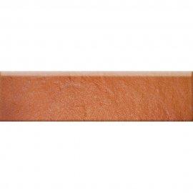 Klinkier cokół SOLAR orange structure mat 8x30 gat. I