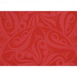 Płytka ścienna inserto OPTICA red koła glossy 25x35 gat. I