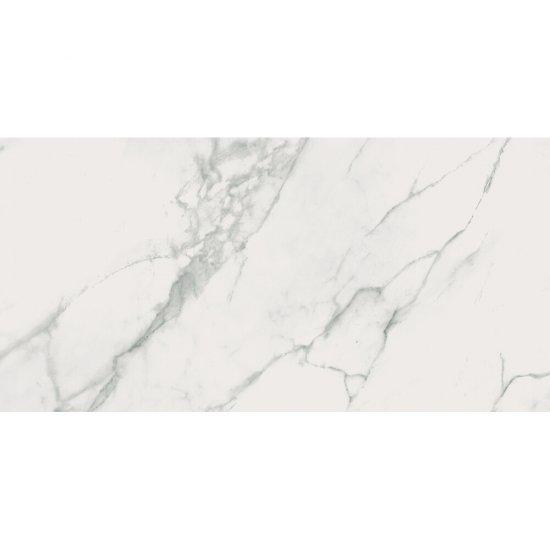 Gres szkliwiony CALACATTA MARBLE white polished 59,8x119,8 gat. II