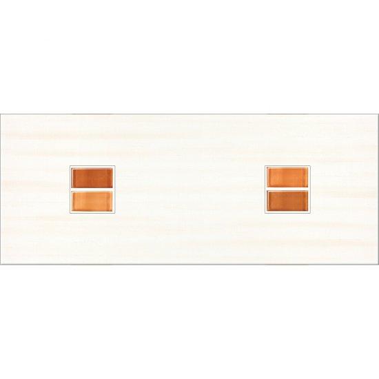 Płytka ścienna inserto CAPRI orange geo glossy 20x50 gat. I