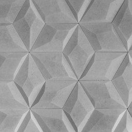 Betonowa płytka dekoracyjna 3D DIAMANTE 1 szary STONES
