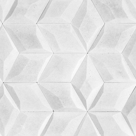 Betonowa płytka dekoracyjna 3D DIAMANTE 2 biały STONES