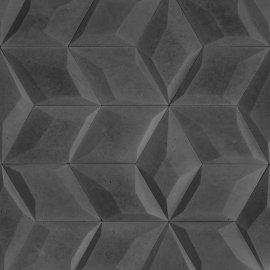 Betonowa płytka dekoracyjna 3D DIAMANTE 3 grafitowy STONES